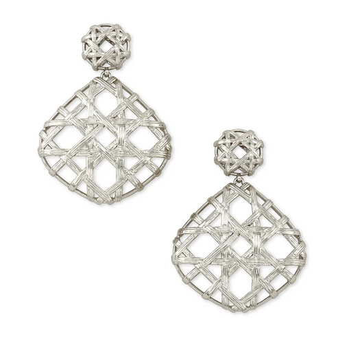 Natalie Silver Statement Earrings In Silver