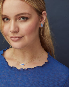 Kendra Scott Elisa Rose Gold Necklace with Iridescent Drusy