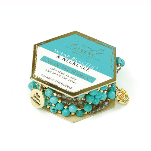 Soul Stacks Wrap Bracelet & Necklace - Live In The Moment
