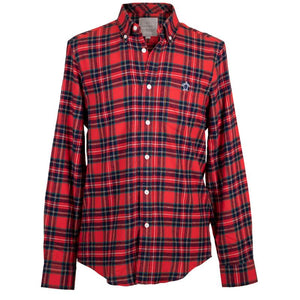 Parker Long Sleeve Button Up - Red