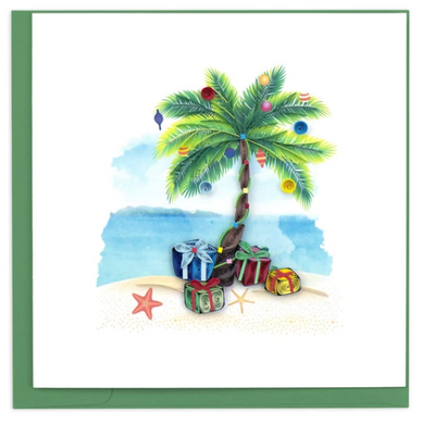 Tropical Holiday Quill Card