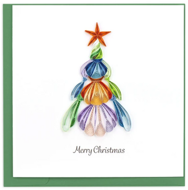 Seashell Christmas Tree Quill Card