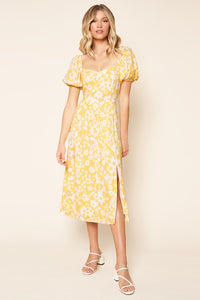 Yellow Sweetheart Dress