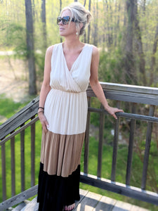 CREAM CALISTA COLORBLOCK MAXI