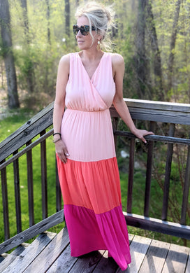 PINK CALISTA COLORBLOCK MAXI