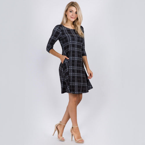 Classic Winter Plaid Dress