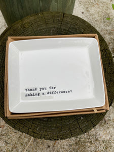 Mud Pie - Trinket Tray Thank You