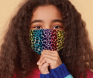 YOUTH Face Mask - Rainbow Leopard