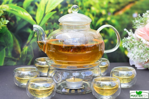 Clear Glass Tea Service Set Heat Resistant 800 ml (27 ounces)