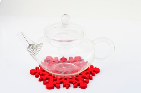 Clear Glass Tea Sets 250Ml Heat Resisting