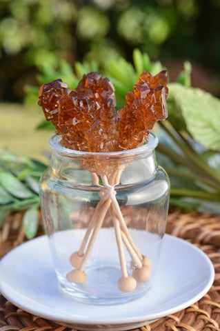 Brown Rock Candy Sticks