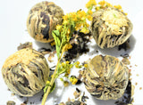 "Flowering Tea ""Golden Fortune Ball"""