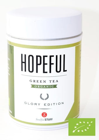 SoulfulStuff - Green Tea Hopeful Organic, 100 g (3.5 oz) in tin