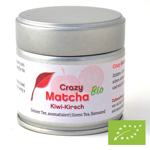 Crazy Matcha Kiwifruit Cherry Organic, 30 g in tin