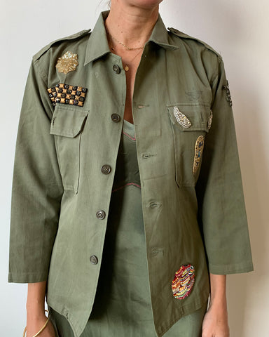 Military Jacket with Tiger