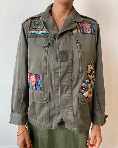 Military Jacket with Color