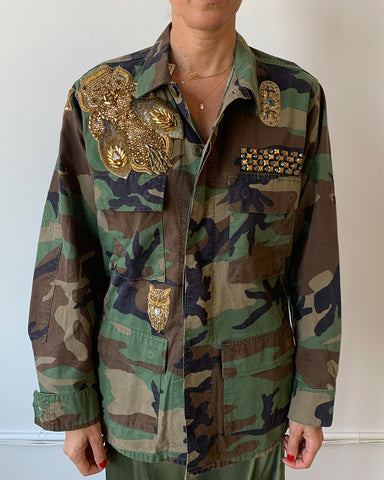 Military Jacket with Bug