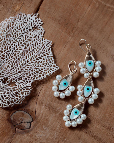 Beck Jewels Evil Eye Stephanie Mix Earrings
