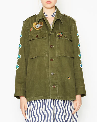 Military Jacket with Sleeves and Single Snake