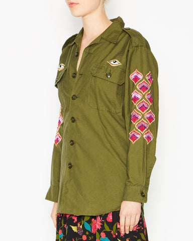 Military Jacket with Bug and Sleeve