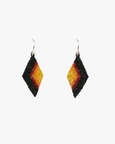 Huichol Ojo Beaded Earrings