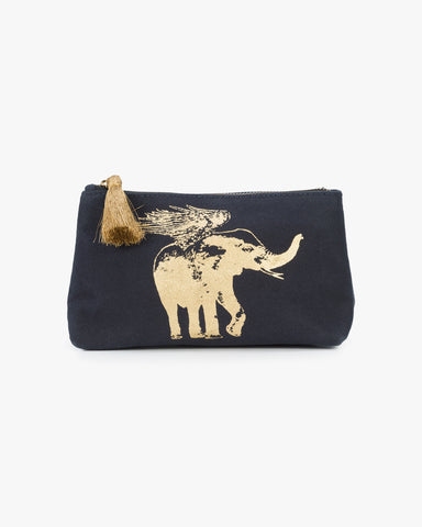 Flying Elephant Cosmetic Pouch