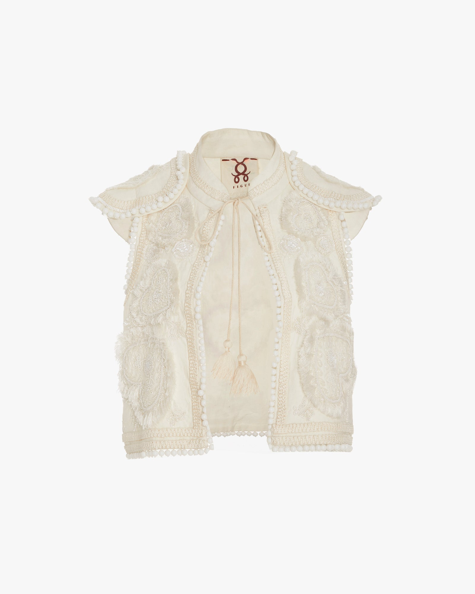 For Sale Buy Authentic Online For Sale 2018 Manolete vest - White Figue sljsAgGh0