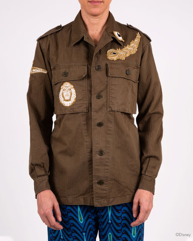 Disney x Figue Military Jacket with Feather and Eye