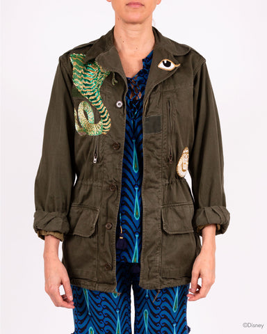 Disney x Figue Military Jacket With Lion And Snake