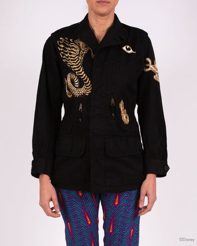 Disney x Figue Military Jacket With Snake And Lamp