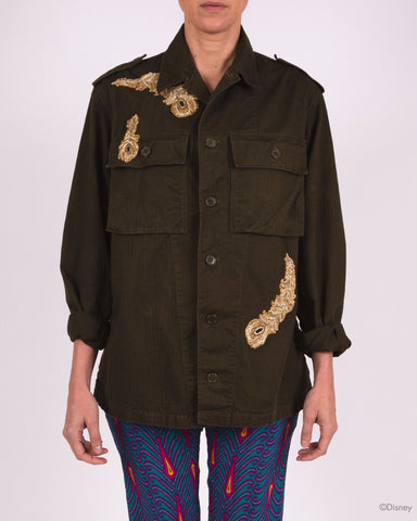 Disney x Figue Military Jacket with Lion and Feathers