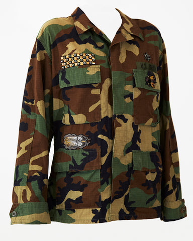Military Jacket with African Owl