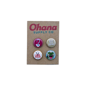 """Our Favorite Codfish"" Button Pack"