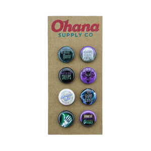 """Our Favorite Mansion"" Button Pack"