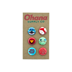 """Our Favorite Ohana"" Button Pack"
