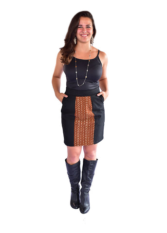 MUD CLOTH PENCIL SKIRT