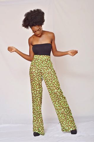 African Print Straight Pant