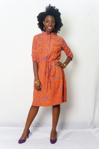 Mandarin Shirt Dress