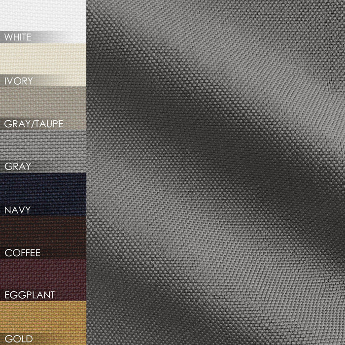 Cabott Cotton Canvas Drop Cloth Solid Blend Pair of Curtain Panels