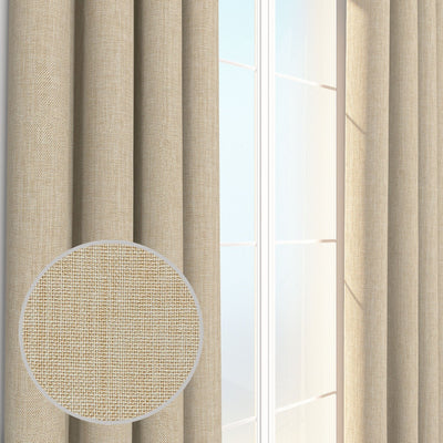 Louis Burlap Linen Weave Chambray Curtain Panel