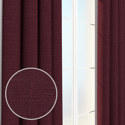 Loagan Linen Cotton Burlap Heavyweight Boucle Textured Weave Pair of Curtain Panels