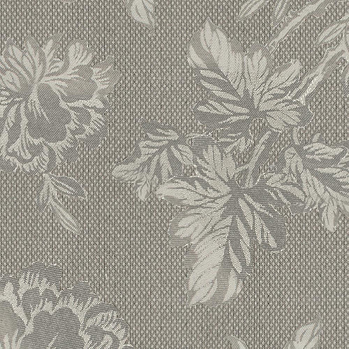 Carlie Flower Cotton Floral Damask Pair of Curtain Panels with 3D Jacquard Raised Embroidery