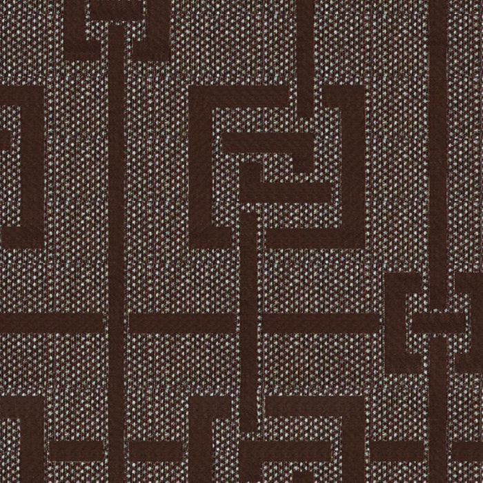 Geovan Cotton Greek Key Geometric Curtain Panel with 3D Jacquard Raised Embroidery