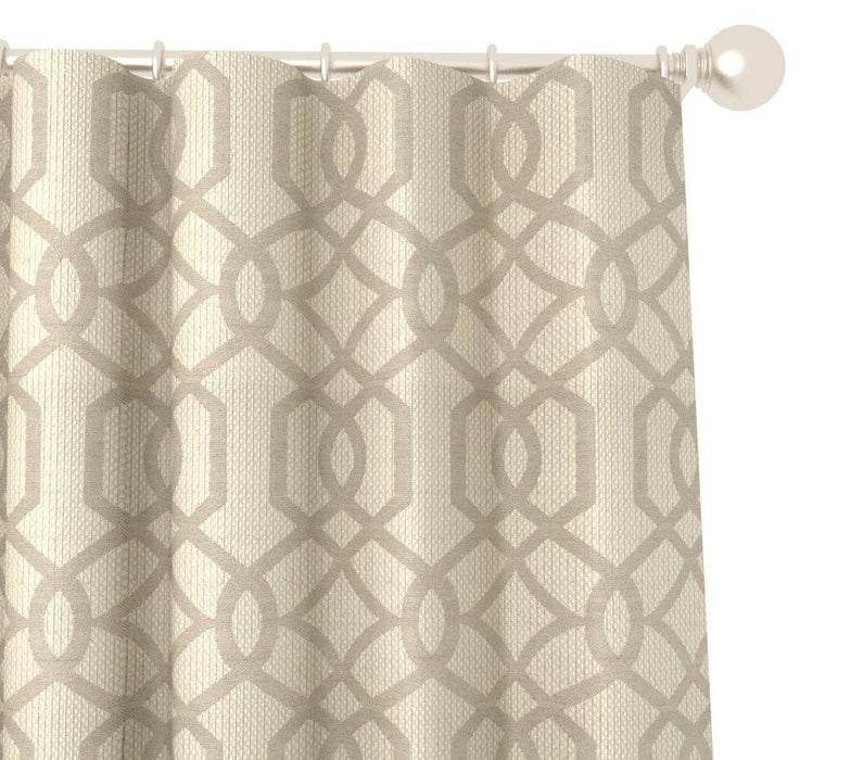 close semi curtains panel curtain panels ivory darcy sheer out grommet embroidered