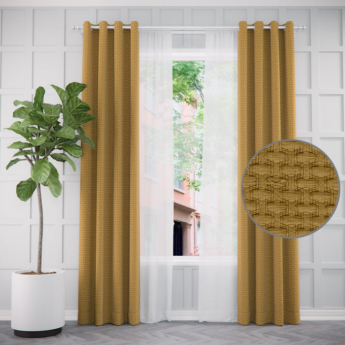 Pair of Blair Textured Curtains and Pair of Sheers