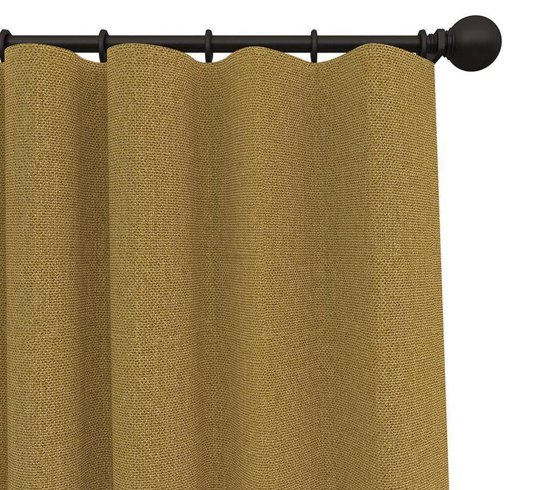 Pair Cabott Canvas Drop Cloth Solid Cotton Blend Curtain Panels with FREE Curtain Rod