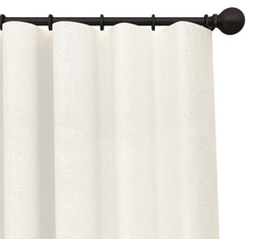 Pair Cabott Canvas Solid Cotton Blend Curtain Panels with FREE Curtain Rod