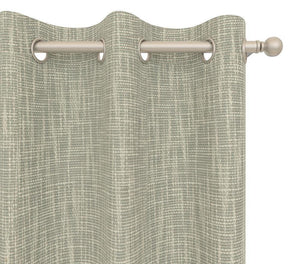 Pair Coleen Linen Look Durable Curtain Panels with FREE Curtain Rod