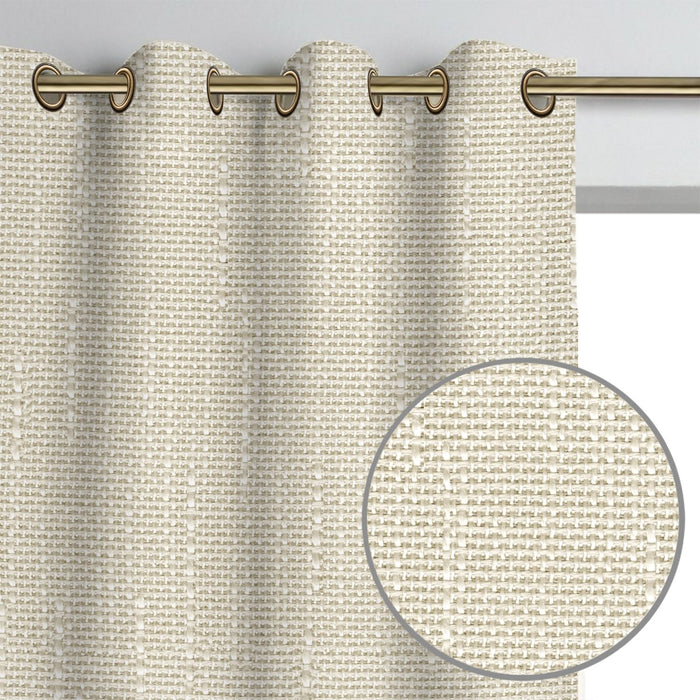 York Textured Weave Curtain Panel