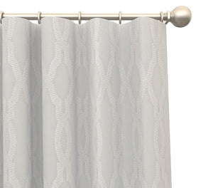 Pair Heather Moroccan Trellis Damask Cotton Blend Curtain Panels with FREE Curtain Rod